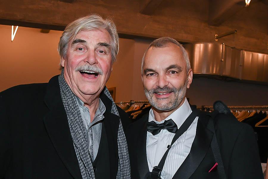 Fotograf juergen Biniasch mit Peter Simonischek